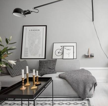 graue wand wohnideen einrichten. Black Bedroom Furniture Sets. Home Design Ideas