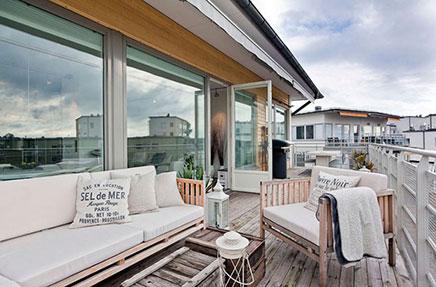 Große Dachterrasse von 30m2 Wohnideen einrichten