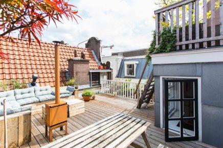 gro e dachterrasse von 30m2 in amsterdam wohnideen einrichten. Black Bedroom Furniture Sets. Home Design Ideas