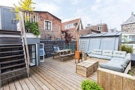 Große Dachterrasse von 30m2 in Amsterdam Wohnideen einrichten