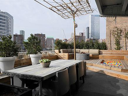 Große Dachterrasse Loft-Wohnung in Rotterdam
