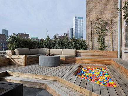 grosse dachterrasse loft wohnung in rotterdam wohnideen With katzennetz balkon mit gardens of the galaxy groot