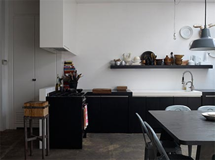 Große Küche Loft Amsterdam Wohnideen einrichten