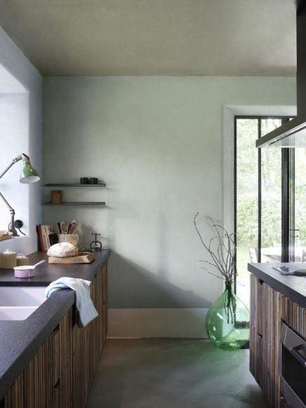 Grüne Wände  Wohnideen einrichten