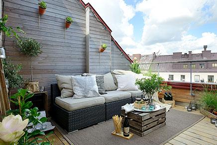 Ruhige gemütliche Dachterrasse