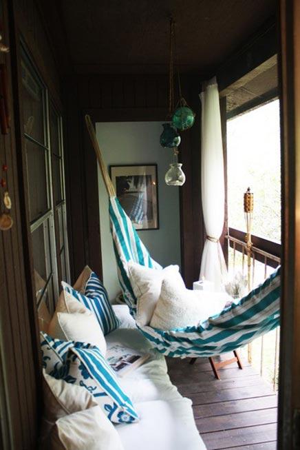 Hängematte auf dem Balkon