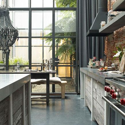Industrielle Küche umgebauten Fabrik Amsterdam