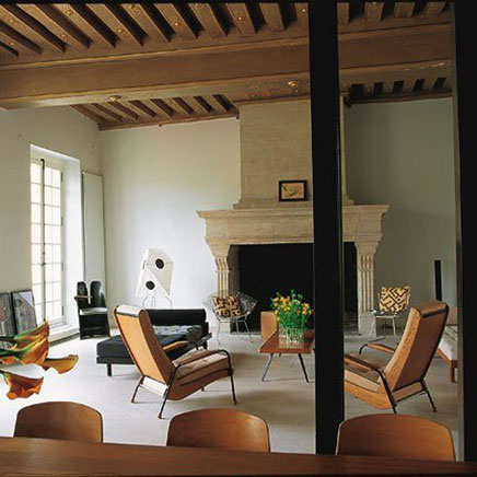 Industrielle Wohnzimmer von Wohnung in Paris