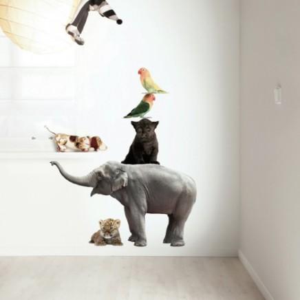 kek-amsterdam-safari-friends-muursticker