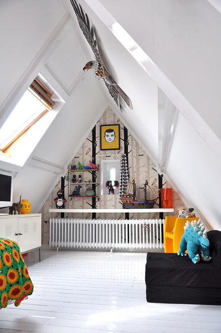 kinderzimmer auf dem dachboden wohnideen einrichten. Black Bedroom Furniture Sets. Home Design Ideas