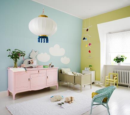 Kinderzimmer mit Pastellfarben