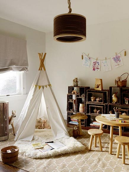 kinderzimmer mit tipi zelt wohnideen einrichten. Black Bedroom Furniture Sets. Home Design Ideas
