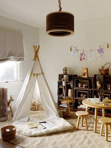 Kinderzimmer mit Tipi Zelt