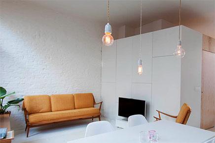 kleines loft wohnung von 40m aus antwerpen wohnideen einrichten. Black Bedroom Furniture Sets. Home Design Ideas