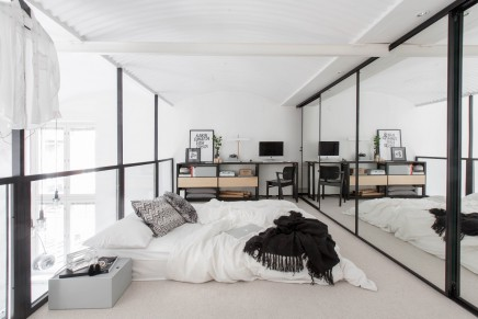 kleine scandinavian loft wohnung wohnideen einrichten. Black Bedroom Furniture Sets. Home Design Ideas