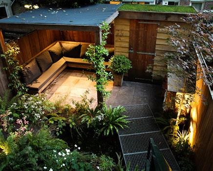 Kleine Stadt Garten aus Amsterdam