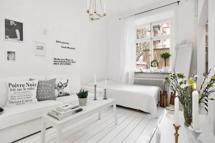 Grosartig Einzimmerwohnung Einrichten ~ Kleine und weiß wohnung von m wohnideen einrichten