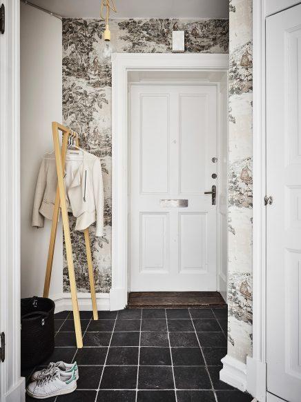 wohnideen offenen raum, kleine wohnung mit harten schwarzen wänden | wohnideen einrichten, Design ideen
