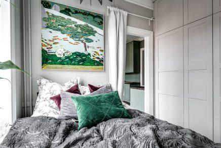 Kleines Schlafzimmer mit großen Schrank | Wohnideen einrichten