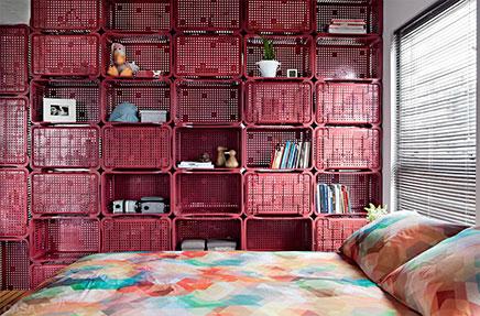 kreative trennwand zwischen wohnzimmer und schlafzimmer wohnideen einrichten. Black Bedroom Furniture Sets. Home Design Ideas