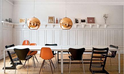 kupfer lampen wohnideen einrichten. Black Bedroom Furniture Sets. Home Design Ideas