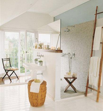 Ländlichen Badezimmer mit kreativen Layout