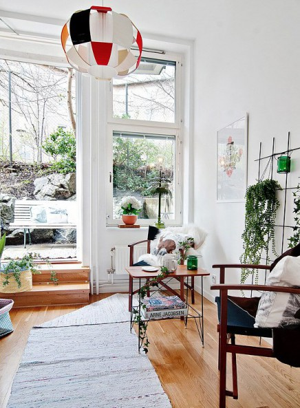 Länglichen Garten Schlafzimmer