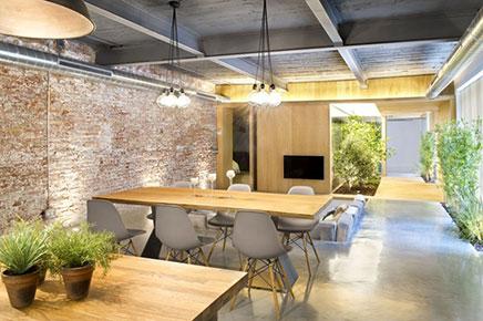 loft wohnzimmer mit harten offener küche | wohnideen einrichten - Wohnzimmer Mit Offener Küche
