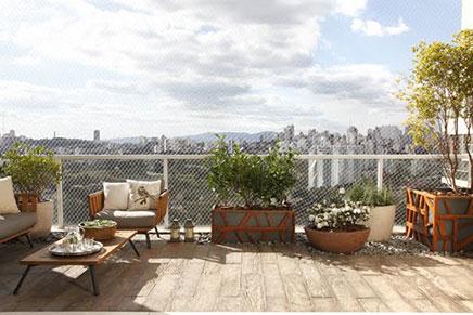 Eine Luxus Dachterrasse erstellen