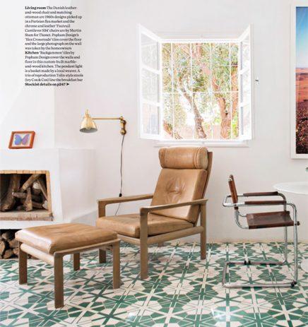 Marokkanisches Wohnzimmer mit Zementfliesen | Wohnideen einrichten