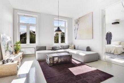 Minimalistisches schönes Wohnzimmer aus Oslo | Wohnideen einrichten