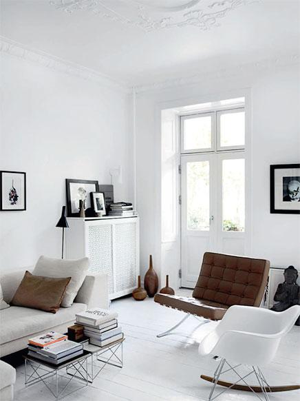 Monochrome Wohnzimmer