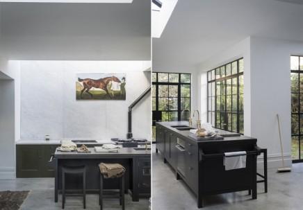 Moosgrün klassischen Industrieküche | Wohnideen einrichten