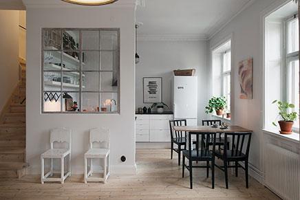Niedliche Küche von kleine Loft aus Stockholm
