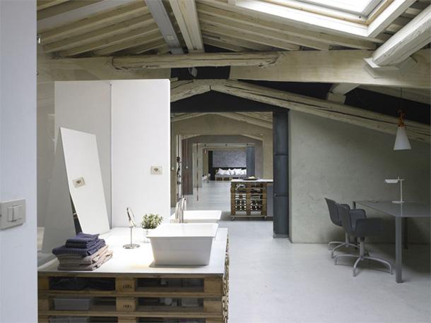 Beton Cire Bader ~ Ideen Für Die Innenarchitektur Ihres Hauses Offenes Badezimmer Im Dachgeschoss