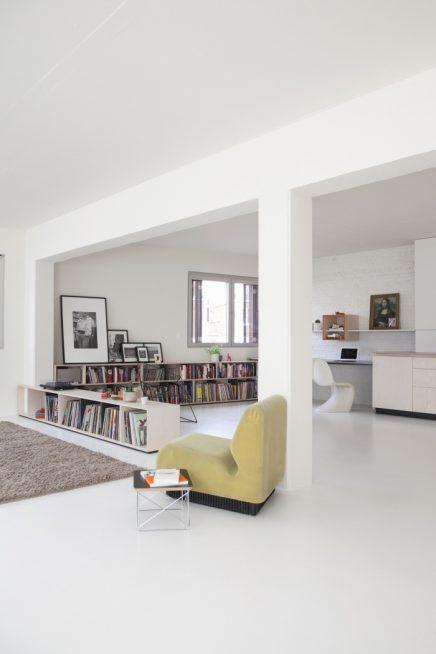 perfekte kombination aus wohnzimmer arbeitsbereich und k che wohnideen einrichten. Black Bedroom Furniture Sets. Home Design Ideas