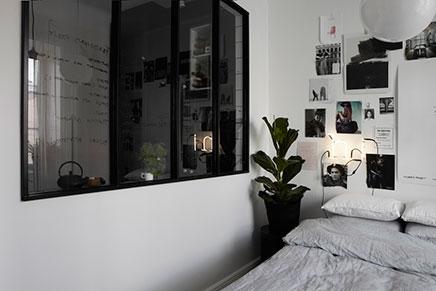 Räumliche schlafzimmer neben Küche