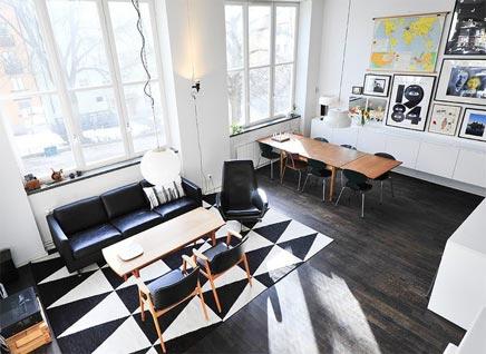 Retro kunst wohnzimmer