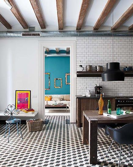retro vintage einrichtung in barcelona wohnideen einrichten. Black Bedroom Furniture Sets. Home Design Ideas