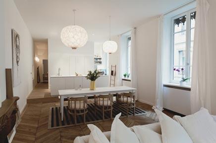 Romantische Wohnung eingerichtet Paris