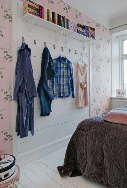 rosa-blumentapete-schlafzimmer (3)