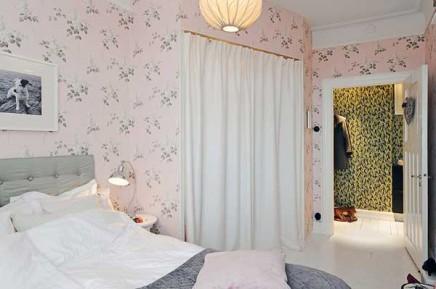 rosa-blumentapete-schlafzimmer