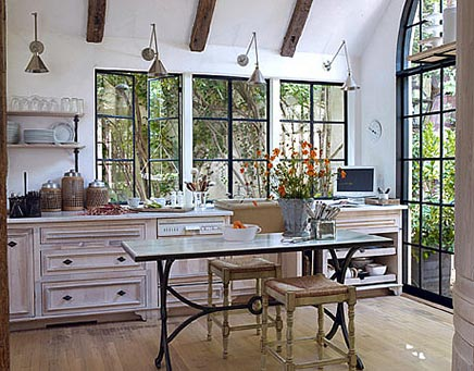 Rustikale Küche Designerin Jill Sharp