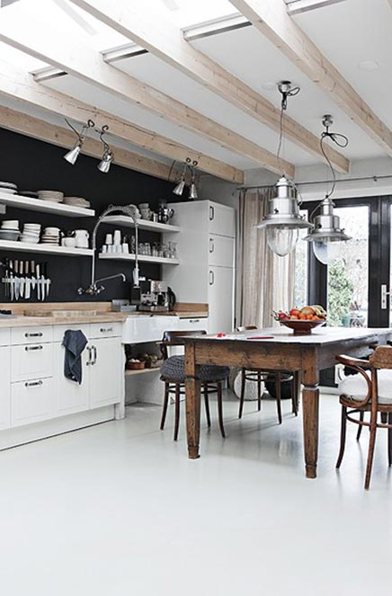 Rustikale Küche aus Finnland