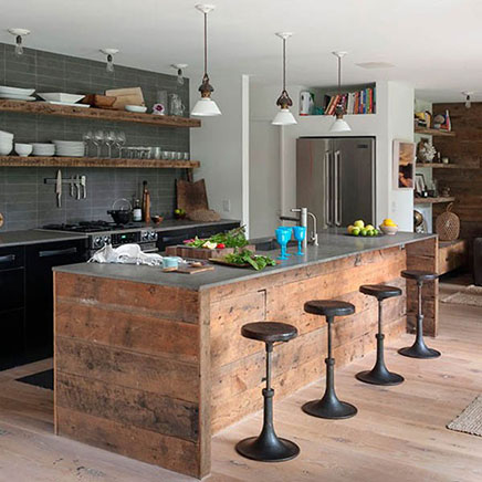 Rustikale Küche Strandhaus