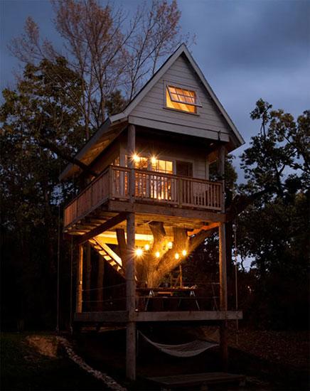 Schlafen im Baumhaus