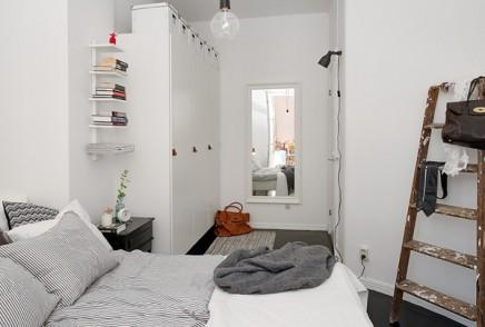 Schlafzimmer begehbarer kleiderschrank in kleine Wohnung von ...