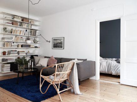Underlayment In Badkamer : Schlafzimmer mit blauen wänden und underlayment begehbarer