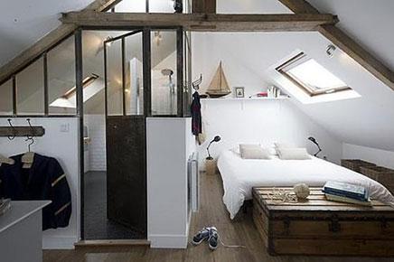 Schlafzimmer im Dachgeschoss Masion Le Matelot