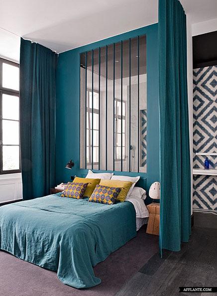 Schlafzimmer dekorieren mit Badezimmer und Büro